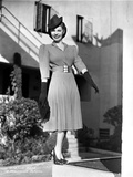 Martha Raye on a Dress standing and smiling