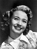 Jane Powell on a Printed Top and smiling