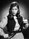 Nancy Olson on a Checkered Long Sleeve with Vest