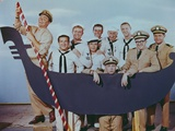 McHale's Navy Group Picture on a Boat in Classic
