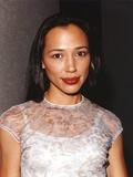 Irene Bedard in White Dress Portrait