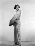 Jane Greer on a Dress Holding a Bag Portrait