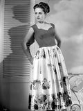 Martha Hyer on Printed Skirt