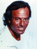 Julio Iglesias in White Formal Outfit Close Up Portrait