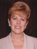 Lynn Redgrave in White with Black Background