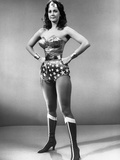 Lynda Carter standing in Wonder Woman with Hands on Hips