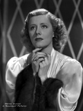 Irene Dunne on Silk Top Looking Up Portrait