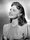 Joan Leslie Looking Up and smiling