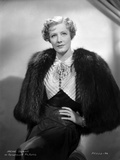 Irene Dunne on Furry Coat and Hand on Waist Portrait