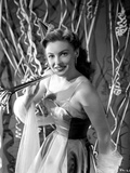 Joan Leslie on a Dress smiling and posed