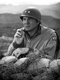 Karl Malden Leaning on Sack