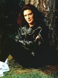 Lara Boyle Posed in Black Leather Jacket
