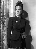 Jean Arthur on a Netted Veil and a Long Sleeve Top Portrait