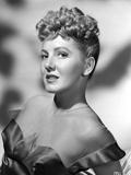 Jean Arthur on Dress standing Slightly Reclining Portrait