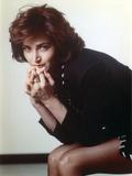 Kim Delaney Posed wearing Black Long Sleeves