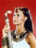 Isis in Egyptian Attire with Snake Cane