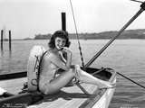 Mary Martin on a Silk Swimsuit Portrait