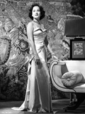 Merle Oberon Posed a Silk Gown