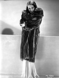 Lupe Velez Posed in Fur Coat with Arm's Cross