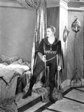 John Barrymore standing Inside the Bed Room in a Classic Movie Scene