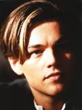 Leonardo Dicaprio Close Up Portrait in Black Background