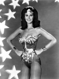 Lynda Carter Posed in Wonder Woman with Hands on Hips