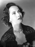 Merle Oberon on an Embroidered Top