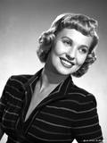 Lola Albright in a Stripe Long Sleeve Blouse