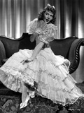 Mary Martin on a Ruffled Gown sitting Portrait
