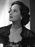 Merle Oberon on Embroidered Top