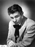 Jim Davis Posed in Stripe Suit