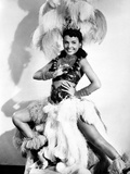 Lena Horne Portrait wearing a White Sheer Silk