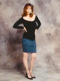 Lesley Warren Portrait in Black Dress