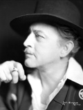 John Barrymore Smoking in a Close Up Portrait