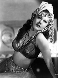 Maria Montez Posed in Lingerie with Pearl Headdress