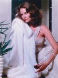 Lesley Warren Portrait in White Fur Dress