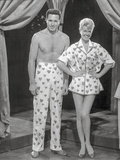 Pajama Game Man and Woman in polka dot