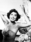 Lena Horne posed with Arms Raised in Black and White Portrait