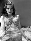 Nina Foch Reclining in Silk Dress
