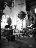 John Barrymore Shooting at the Studio with a Woman in a Classic Portrait