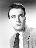 Montgomery Clift Close Up Portrait in Black Coat and Tie