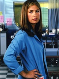 Maura Tierney Posed in Blue Coat