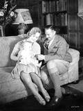 John Barrymore Seated on Couch