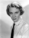 Mai Zetterling Posed in White Long Sleeve with Necktie