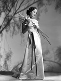 Merle Oberon on a Dress with Twigs