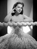 Martha Hyer on an Embroidered Tube Ball Gown Portrait