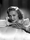 Madeleine Carroll Chin Leaning on Head  wearing White Blouse