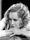 Miriam Hopkins Leaning on Hands Portrait