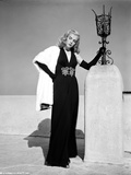 Lizabeth Scott Posed in Long Black Gown with Gloves