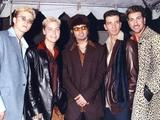 N'sync Group Posed in Coat